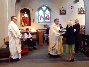 Bridget Power of Kidderminster UCM receives an award for 40 years service