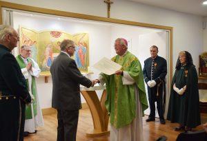 Tony receives a Papal award